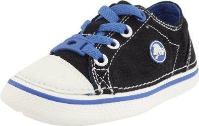 Crocs Hover Canvas Lace-Up Sneaker (Toddler/Little Kid/Big Kid),Black/Sea Blue,3 M US Little Kid/ 5 M US Women's crocs. $9.93