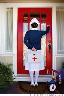 Home health nurses. Bringing the care to you!    That's what we do!   @ Lori burton hope you wear this