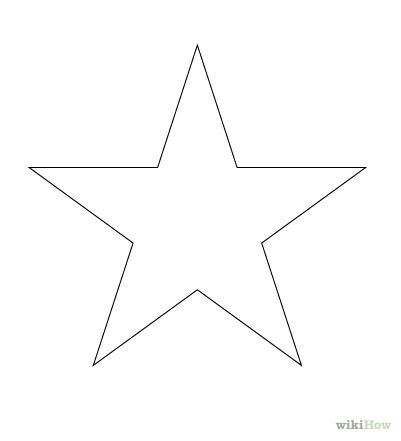 How to draw a perfect star (for a star pillow)