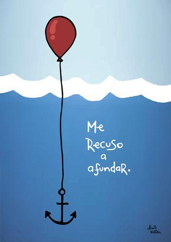 Poster ME RECUSO AFUNDAR de Flávio Wetten Life On A Draw! Desenhos | Touts