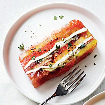 Heirloom Tomato and Eggplant Terrine by Cooking Light