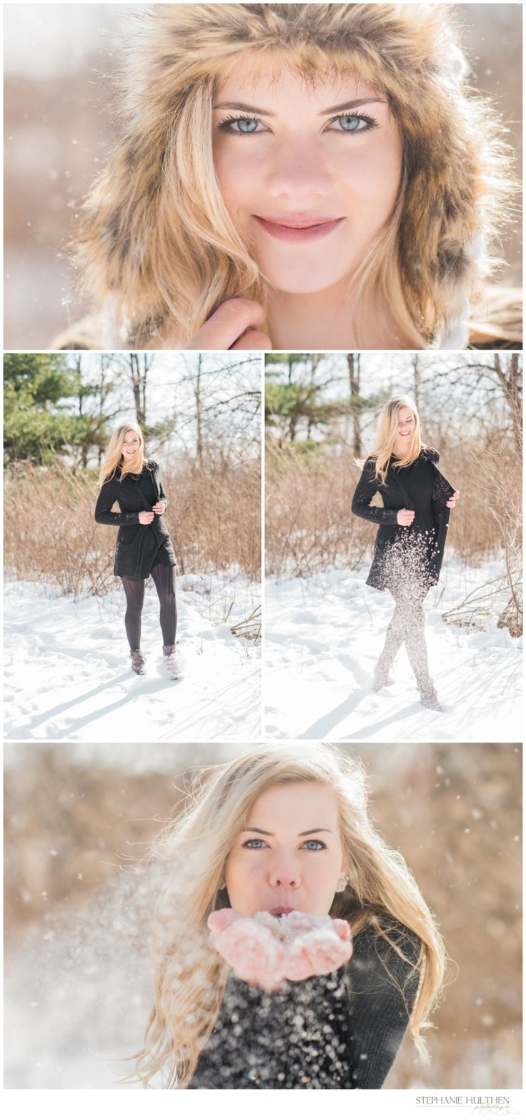 llinois Senior Photo Snow Session   Winter Senior Photo Session    © Stephanie Hulthen Photography