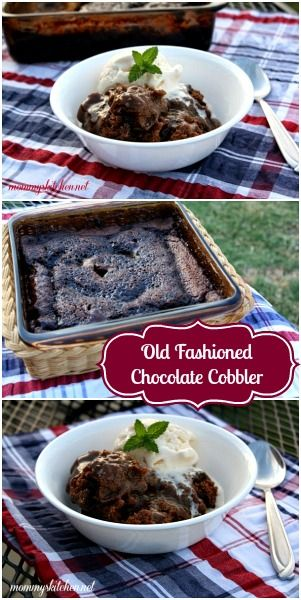 Old Fashioned Chocolate Cobbler :)  Ooey Gooey Chocolate Goodness