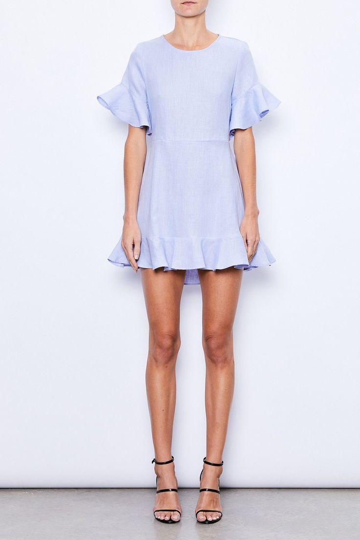 MLM Label - Mlm - Sound Ruffle Linen Dress