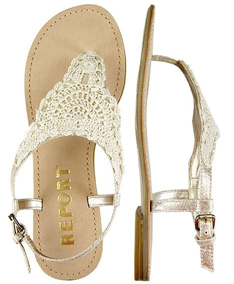 Bridemaid shoe option 5. beach wedding sandals! I like that they are lace. Seems comfortable.