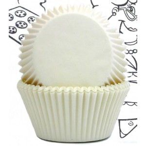 Goldas Kitchen Baking Cups - Solid - White - Standard Golda's Kitchen