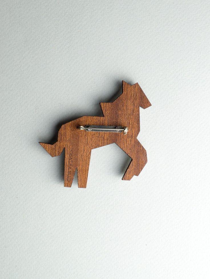 Mirror Horse Brooch by Carla Szabo #jewelry #design #brooch