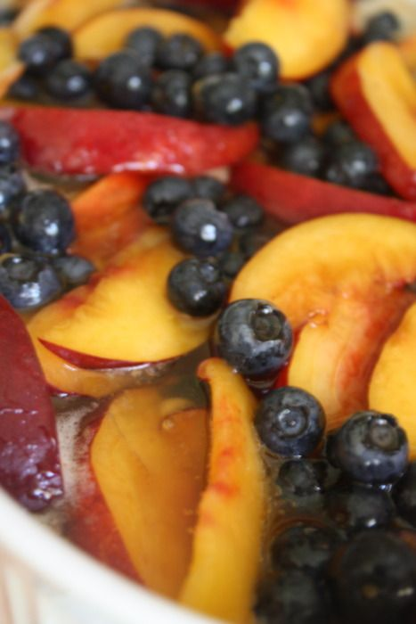 Nectarine and Blueberry Browned Butter Cobbler