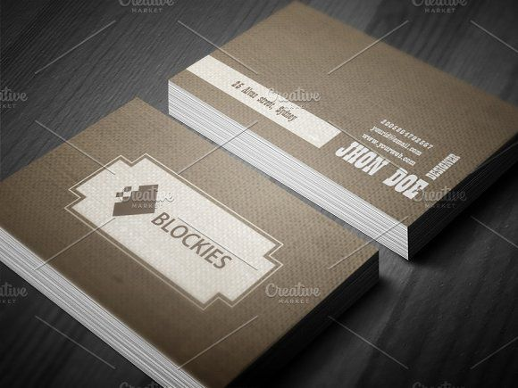 Retro Style Business Card Template Business Cards Creative Templates Business Card Template Business Card Template Design