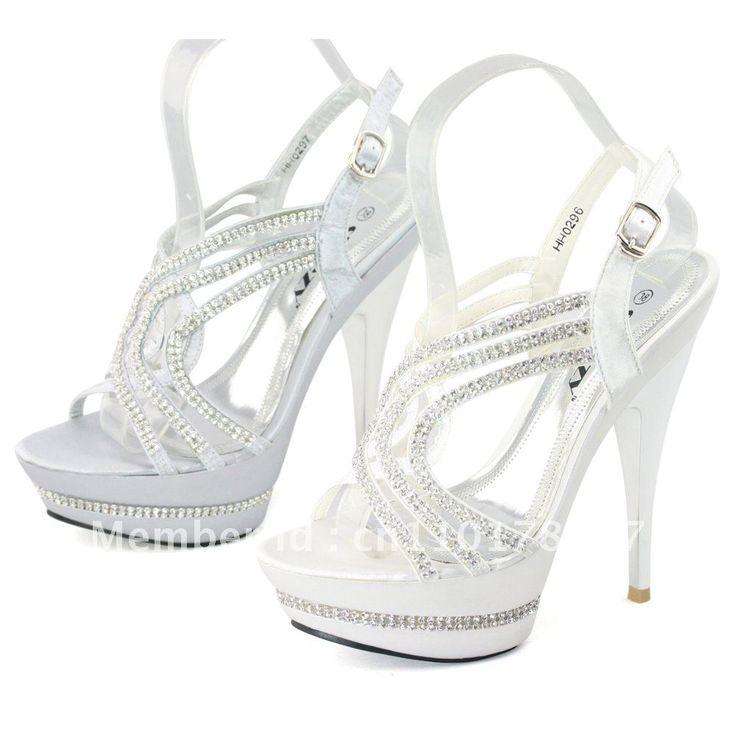 111 best Silver High Heels images on Pinterest