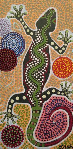 Aboriginal Gecko by SyrenSong on DeviantArt