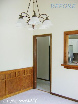 How to Paint Outdated Wooden Trim White: A Step by Step guide. You'll be glad you pinned this!