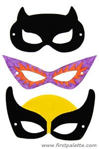 Superhero mask craft, go to link for instructions http://www.firstpalette.com/Craft_themes/Wearables/superheromask/superheromask.html
