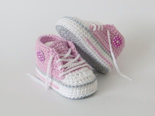 Häkelanleitung für trendige Babyschuhe (mit Bildern ...