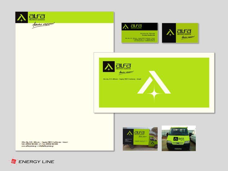 ALFA ALUMINIUM SYSTEMS - New Branding, Logo design - Corporate id design