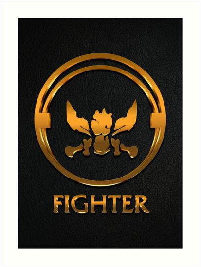 League of Legends FIGHTER [gold emblem] by Naumovski
