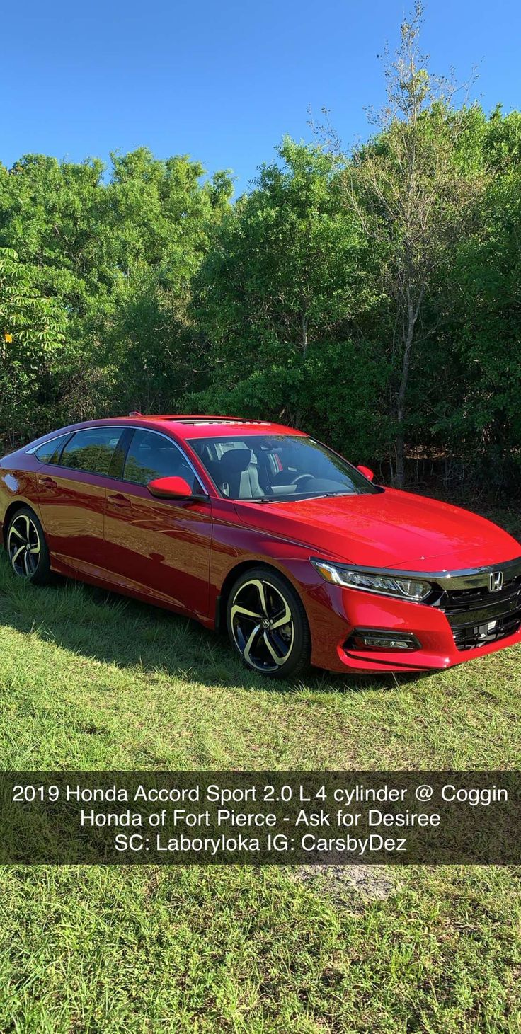 All new 2019 Honda Accord Sport 2.0 L with 4 cylinder