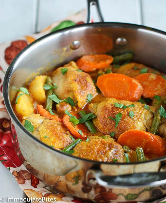 Jamaican curry chicken- a one pot meal that is bursting with flavor.  The  most delicious curry stew , you will want to make this over and over again.