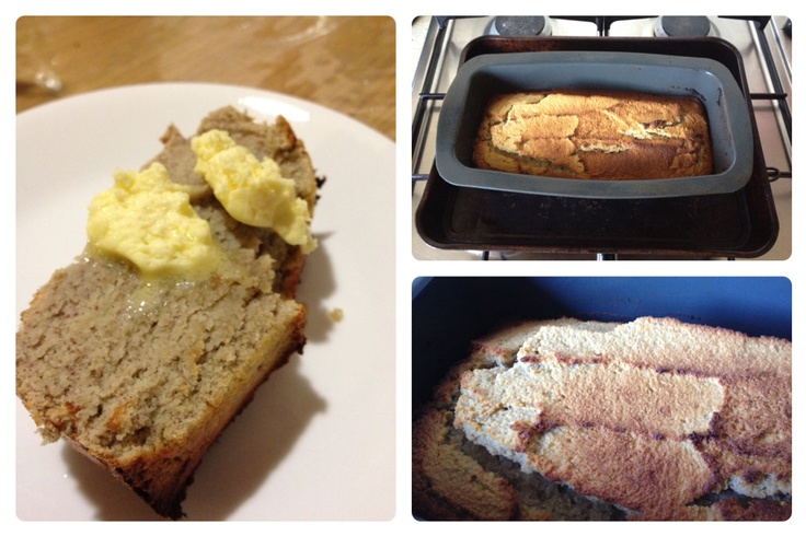 Banana bread from Living For Life.  I've lost count of how many times I've made this! Mostly I make it not muffins for a quick, portable snack. Keeps well in the freezer.