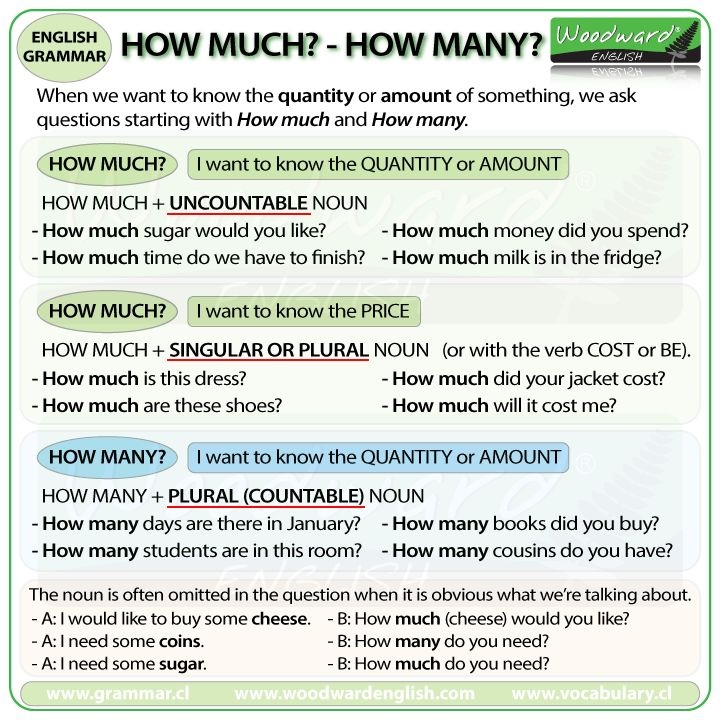 The difference between HOW MUCH and HOW MANY in English