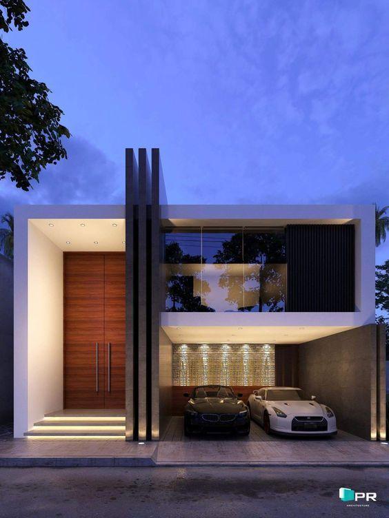 Fachadas de casas modernas de dos pisos arquitectura en for Fachadas de casas nuevas modernas
