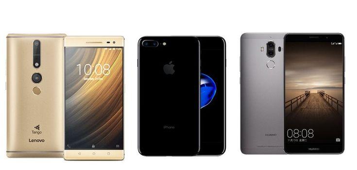 Lenovo Phab 2 Pro vs iPhone 7 Plus vs Huawei Mate 9