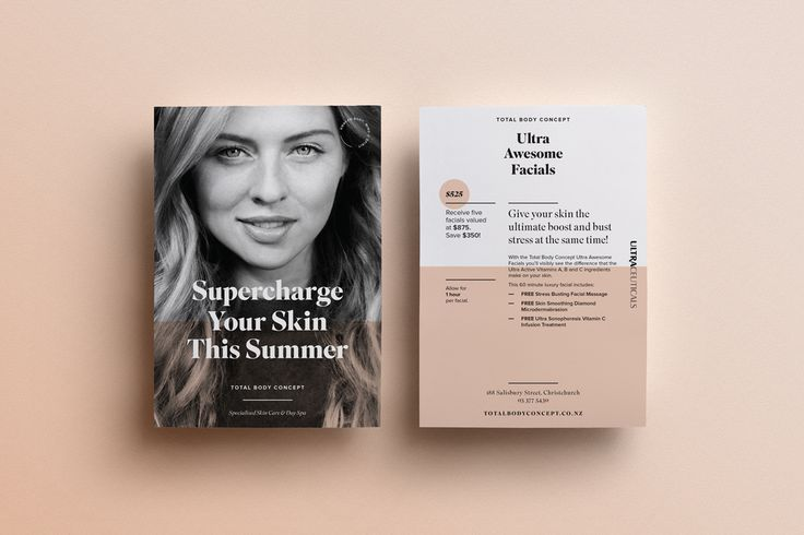 Total Body Concept promotional postcards | THOMPSONCo. Design & Branding Studio