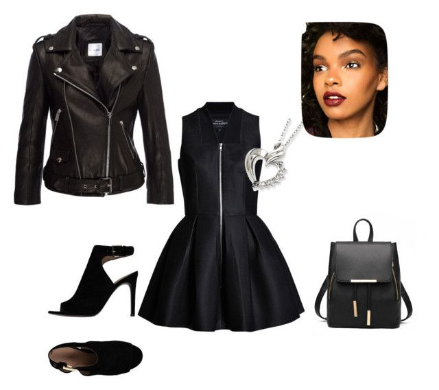"""Black"" by kdorisz on Polyvore featuring Anine Bing and Tory Burch"