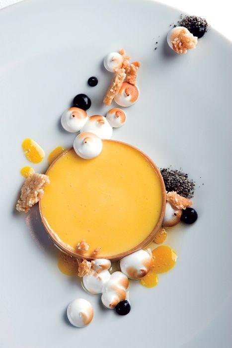 Passion Fruit Tart, Sesame, Argan Oil & Meringue #recipe
