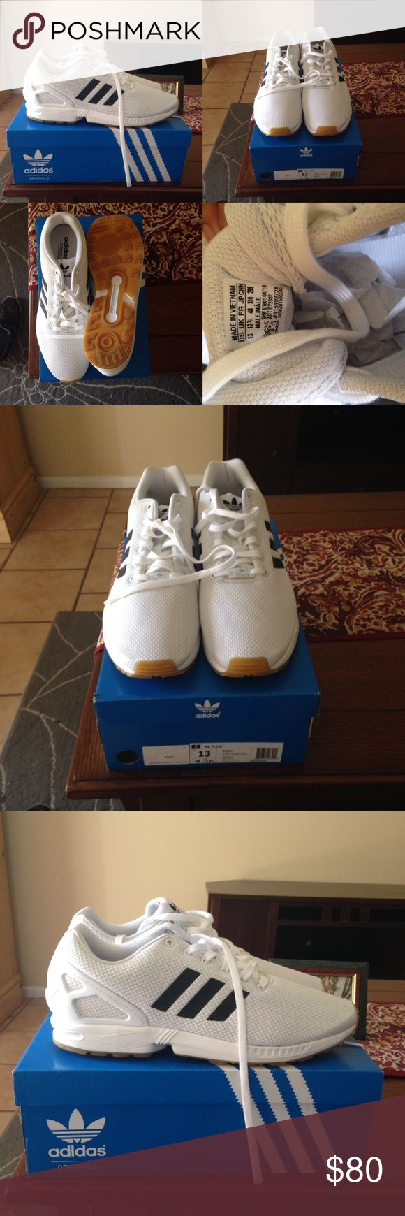Adidas ZX FLUX Size 13 mens originals BRAND NEW BRAND NEW adidas ZX FLUX i work at adidas so i get a shoe discount , turns out the shoe is too small which is why iam selling it. 10/10 condition still in box . Adidas Shoes Sneakers