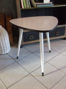 /stolik kawowy czarno-biały/  /lata 70/  /www.pracownia-lili.pl/