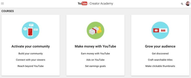 Learning at Youtube Creator Academy