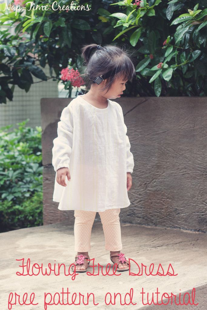 flowing dress free pattern by Nap-Time Creations. size 2/3t for playful little girls.