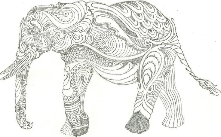 elephant zentangle drawing - Google Search