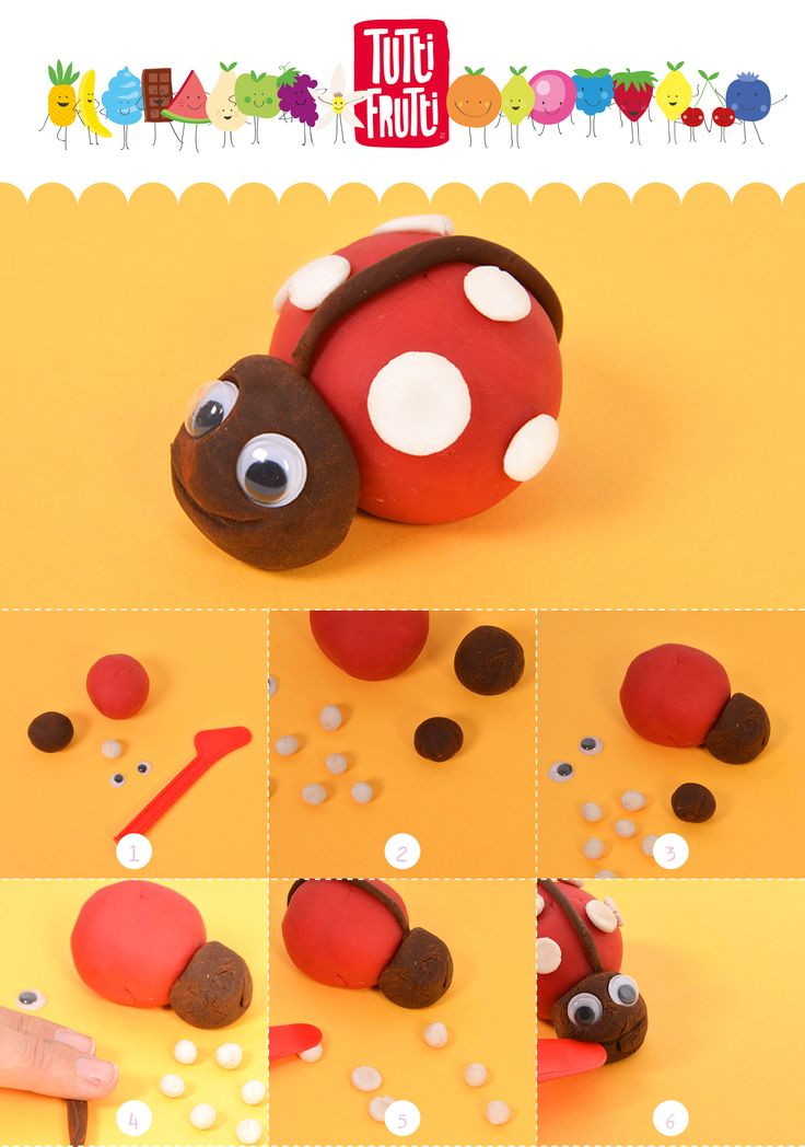 Idées de creation ! fabrique ta coccinelle avec de la pâte à modeler vanille, cerise, chocolat. ------ Creative Ideas! Make your ladybug with modeling dough vanilla, cherry, chocolate.
