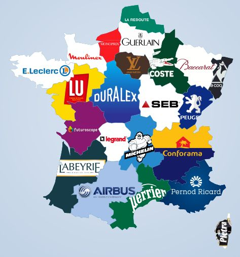 The most famous brand from every french regions.