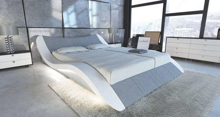Das Bett #Frankfurt ist auch als Wasserbett mit LE…