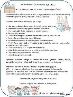 CoSqUiLLiTaS eN La PaNzA BLoGs: MODELO DE REUNIÓN DE PADRES (FRASES PARA ENTREGAR Y OTROS )