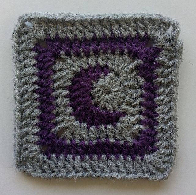 This is a (hopefully) quick and simple little moon square. It can be made with different yarn weights and hook sizes, so there's no gauge. Size and yardage depends on the yarn and hook used.