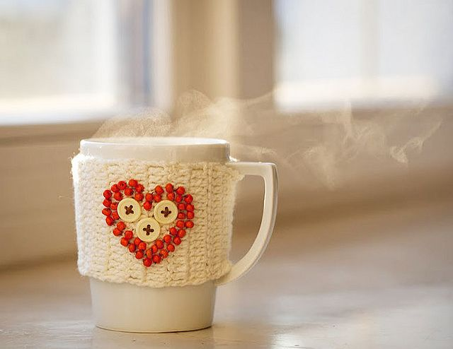 Gehaakte koffie gezellig kopje door Julia Kolbaskina, via Flickr