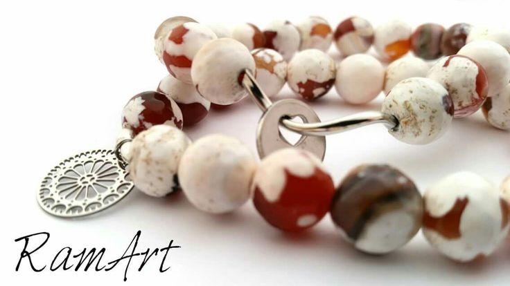 Bransolety z agatu tybetańskiego  #ramart #bransoletka #bracelet #handmade #forsale #agat #silver #sterlingsilver #srebro #niezchinzpasji