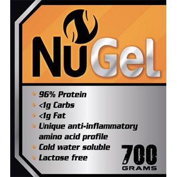 EXCLUSIVE PRESALE OFFER - SAVE $10  Collagen Hydrolysate Beef Gelatin Cold water soluble  This is a premium product. Its light molecular weight means its easily assimilated by the body and won't cause digestive issues like many protein powders. NuGel is sourced from pasture raised cows to ensur
