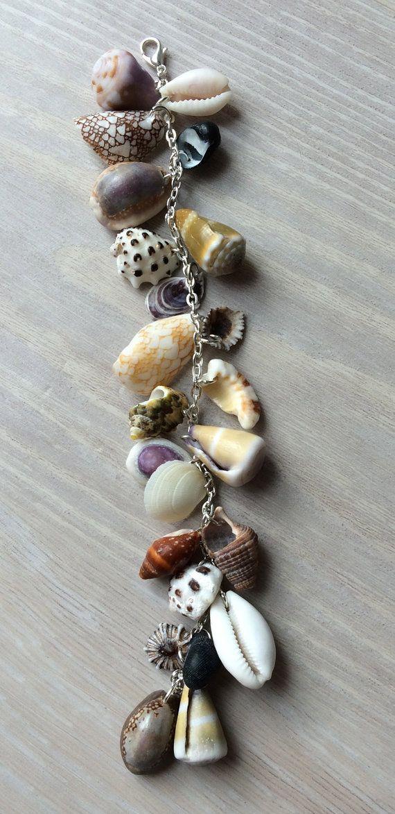 29 best diy seashell bracelet images on pinterest for Seashell ornaments diy