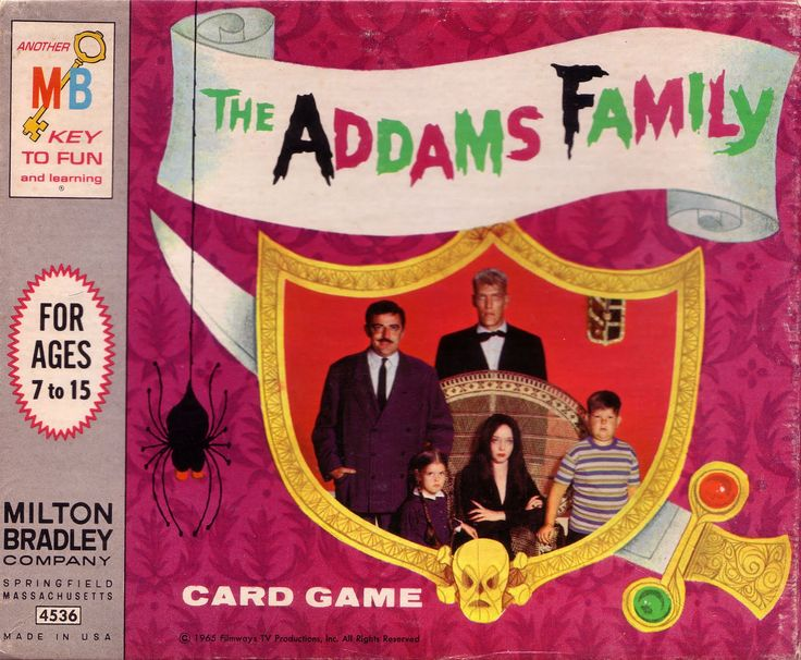 The Addams Family Card Game by Milton Bradley.  I had this.