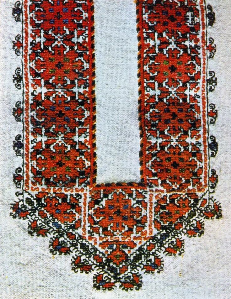 Traditional Bulgarian embroidery from Vidin