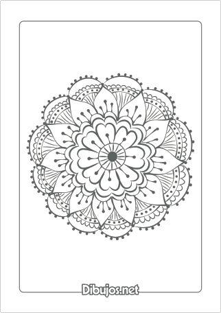 Dibujo de Mandala para colorear - Flor                                                                                                                                                     Más