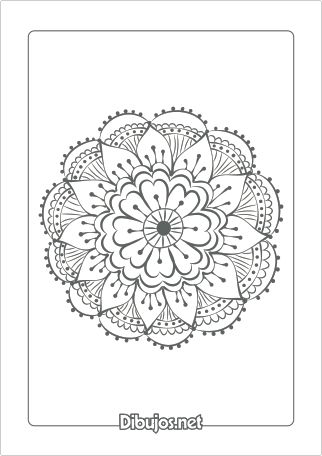 Dibujo de Mandala para colorear - Flor