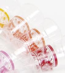 Bicchieri colorati in plastica Crystal