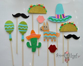 Mexican Fiesta Themed Photo Booth Props Inc: by LMPhotoProps
