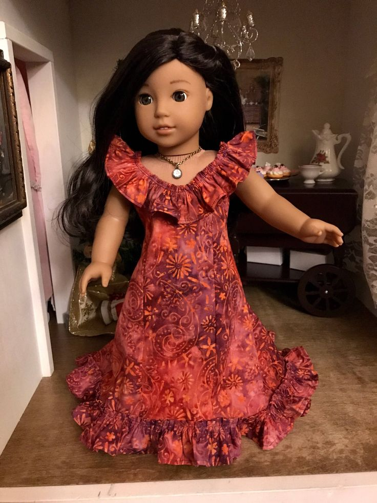 A personal favorite from my Etsy shop https://www.etsy.com/listing/584601571/luau-dress-for-american-girl-nanea
